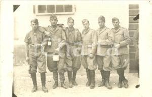 1935 CREMONA Soldati 4° Reggimento Artiglieria Pesante con gavette e Lambrusco