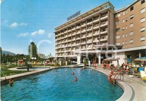 1974 ABANO TERME (PD) Hotel LA RESIDENCE Piscina termale Cartolina VINTAGE FG VG