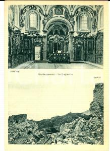 1945 ABBAZIA DI MONTECASSINO Sagrestia prima e dopo il bombardamento *Cartolina
