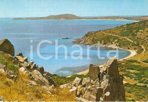1977 VILLASIMIUS Panorama del Golfo di CAGLIARI *Cartolina FG VG