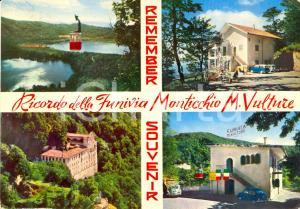 1965 ca RIONERO IN VULTURE (PZ) Funivia MONTICCHIO Vedutine *Cartolina FG VG