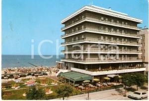 1970 PESARO Hotel SPIAGGIA Veduta panoramica VINTAGE *Cartolina FG VG