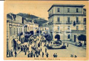 1940 NOCERA INFERIORE (SA) Piazza S. MONICA *Cartolina ANIMATA CREDITO ITALIANO