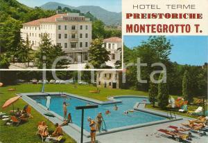 1973 MONTEGROTTO TERME (PD) Bagno in piscina Hotel TERME PREISTORICHE *Vintage