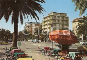 1977 SAN BENEDETTO DEL TRONTO Ombrellone hawaiano in Viale Buozzi *Cartolina FG