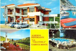 1980 ca GABICCE MONTE (PU) Albergo LA VALLUGOLA Vedutine*Cartolina VINTAGE FG VG