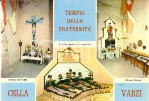 1970 ca CELLA DI VARZI (PV) Tempio della Fraternità - Vedutine *Cartolina FG NV
