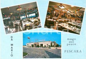 1980 ca PESCARA Ristorante DA MARIO Mago del pesce *Cartolina VINTAGE FG NV