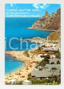 1965 ca RICADI (VV) CAPO VATICANO Camping QUATTRO SCOGLI Cartolina VINTAGE FG VG