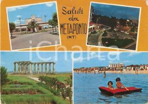 1973 BERNALDA (MT) Vedutine Tempio di Hera a METAPONTO *Cartolina VINTAGE FG VG