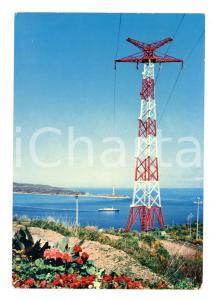 1969 VILLA SAN GIOVANNI (RC) Piloni elettrodotto sullo Stretto Cartolina VINTAGE