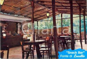 1981 SABAUDIA (LT) Snack Bar FONTE DI LUCULLO *Cartolina VINTAGE FG VG