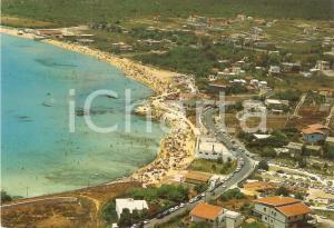 1970 SIRACUSA Veduta aerea della zona di FONTANE BIANCHE *Cartolina FG VG