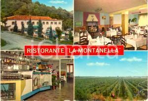 1968 ARQUA' PETRARCA (PD) Vedutine Ristorante LA MONTANELLA *Cartolina FG VG