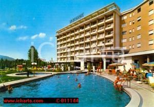 1972 ABANO TERME (PD) Hotel LA RESIDENCE Piscina termale Cartolina VINTAGE FG VG
