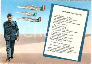 1965 ca AERONAUTICA MILITARE Preghiera dell'aviatore *Cartolina FG NV