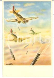 1940 ca MILANO Aeroplani CAPRONI - Cartolina modello 3/2 bis ill. REBAGLIATI
