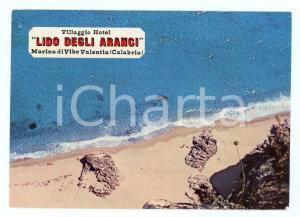 1972 MARINA DI VIBO VALENTIA Spiaggia Villaggio LIDO DEGLI ARANCI Cartolina FG