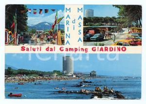 1981 MARINA DI MASSA (MS) Camping GIARDINO Vedutine *Cartolina ANIMATA FG VG