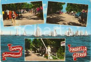 1963 PINARELLA DI CERVIA (RA) Vedutine Camping International *Cartolina FG VG