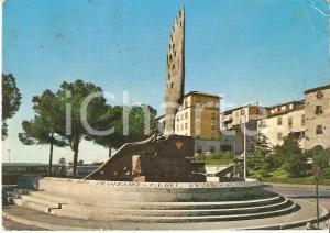 1971 VITERBO Piazza del Sacrario - Monumento al paracadutista *Cartolina FG VG