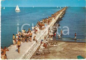 1971 LIDO DI SOTTOMARINA (VE) Bagnanti affollano la diga *Cartolina FG VG