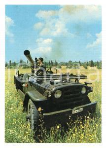 1965 ESERCITO ITALIANO Cannone 106 autovettura ricognizione *Cartolina VINTAGE