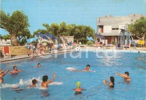 1971 ISOLA CAPO RIZZUTO Giochi in piscina al Villaggio VALTUR *Cartolina FG VG