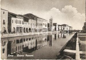 1951 LOREO (RO) Veduta della Riiviera MARCONI *Cartolina FG VG