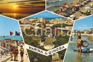 1972 MARINA DI GINOSA (TA) Ragazze mangiano gelati TANARA *Cartolina FG VG