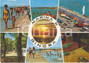 1972 MARINA DI GINOSA (TA) Mamma e bambino sulla spiaggia *Cartolina FG VG