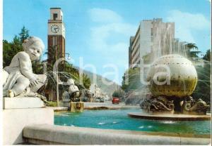 1969 MASSA Fontana di Piazza Puccini e via Democrazia *Cartolina FG VG
