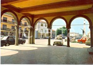 1972 SAREGO (VI) Loggia Municipio e piazza con FIAT 500 e 125 *Cartolina FG VG