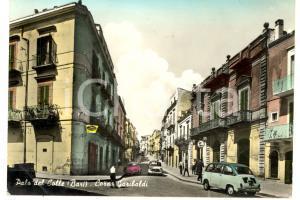 1968 PALO DEL COLLE (BA) Veduta con corso GARIBALDI *Cartolina ANIMATA FG VG