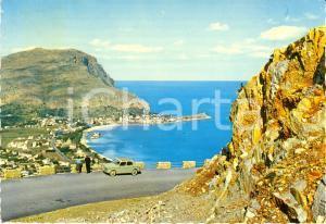 1970 MONDELLO (PA) Veduta panoramica del golfo FIAT 128 *Cartolina FG VG