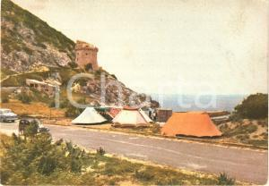1960 ca CIRCEO (LT) Camping a TORRE PAOLA Vintage *Cartolina FG NV
