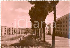 1952 BENEVENTO Veduta del Rione Libertà da via NAPOLI *Cartolina FG VG