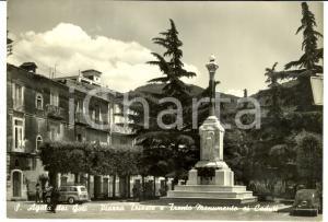 1962 SANT'AGATA DEI GOTI (BN) Piazza con Monumento ai caduti *Cartolina FG VG