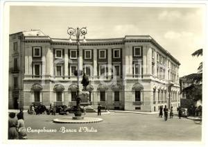 1960 ca CAMPOBASSO Veduta della BANCA D'ITALIA *Cartolina ANIMATA FG VG