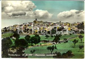 1953 MONTECILFONE (CB) Panorama occidentale del paese *Cartolina FG VG