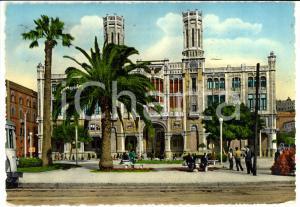 1956 CAGLIARI  Veduta dei giardini e del PALAZZO MUNICIPALE *Cartolina FG VG