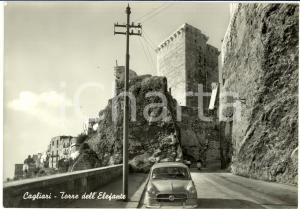 1961 CAGLIARI Veduta della TORRE DELL'ELEFANTE *Cartolina ANIMATA FG VG