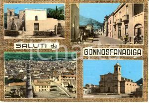 1963 GONNOSFANADIGA (VS) Vedutine con via Porru BONELLI *Cartolina FG VG