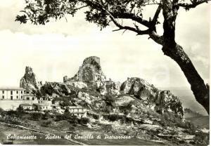 1964 CALTANISSETTA Ruderi del castello di PIETRAROSSA *Cartolina FG VG