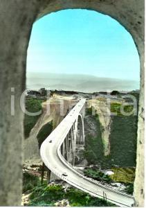 1964 CATANZARO Il viadotto sulla FIUMARELLA dall'alto * Cartolina ANIMATA FG VG