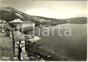 1959 MENFI (AG) Diga del CARBOJ - Bonifica BASSO BELICE *Cartolina FG VG