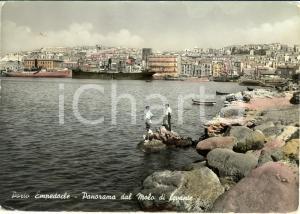 1953 PORTO EMPEDOCLE (AG) Panorama dal molo di levante con pescatori *FG VG