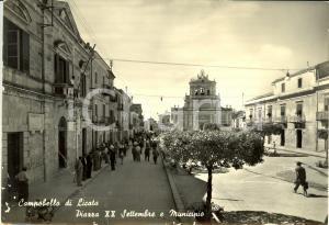 1959 CAMPOBELLO DI LICATA (AG) Piazza XX SETTEMBRE con municipio *DANNEGGIATA