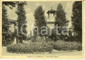 1951 PORTO SAN GIORGIO (FM) Scorcio di viale della Vittoria *Cartolina FG VG