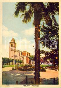 1941 FERMO Veduta dei giardini del GIRFALCO con duomo *Cartolina FG VG